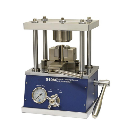 Cylindrical Cell Hydraulic Sealer Sealing Machine Optional: 32650, 26650, 21700, 18650, CR123, AA, AAA